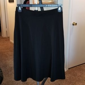 George - black A-line skirt